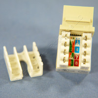 Cooper Ivory Cat5e Snap-In Modular Data Jack 110 Style 8-Position RJ45 5547-5EV