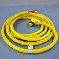 12' Daniel Woodhead 90° Quick Disconnect Cord Pigtail 16/9 Female 47003-90