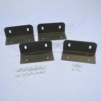 4 Leviton Structured Media Center Versatile Panel Mounting Steel Brackets 47602-BKE