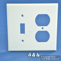 Leviton White Switch Plate Receptacle Outlet Cover Wallplate Switchplate 88005