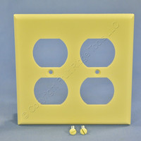 Cooper Ivory Standard 2-Gang Receptacle Thermoset Wallplate Outlet Cover 2150V