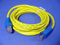 Leviton Yellow Cat 5 7 Ft Ethernet LAN Patch Cord Network Cable Cat5 Red Boot 5G454-7R