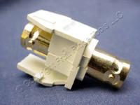 Leviton Almond Gold-Plated Quickport Feedthrough Female BNC 50 Ohm Jack 40832-BA