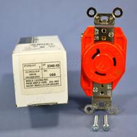Leviton Orange L8-20 ISOLATED GROUND Locking Receptacle Outlet 20A 480V 2340-IG