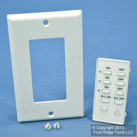 Leviton White Faceplate Color Conversion Kit For 3-Address Dimming Controller DCK4A-W