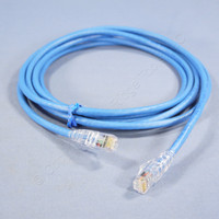 Leviton Blue 10' Cat 6+ Extreme Ethernet LAN Patch Cord Cable Cat6 Plus 10 Ft 6D460-10L