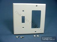 Leviton White Thermoplastic Combination Switch Plate Decora GFCI Cover Nylon Wallplate GFI 80707-W