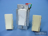 Leviton White/Ivory/Almond Vizia Light Dimmer Switch Advance Mark 10 Powerline Fluorescent 1200VA 277V VZX12-7LX