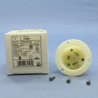Leviton L12-20 Locking Flanged Inlet Twist Lock Plug NEMA L12-20P 20A 480V 3Ø 2385