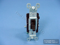 Pass & Seymour Brown RESIDENTIAL 3-Way Toggle Wall Light Switch 15A Bulk 663-GU