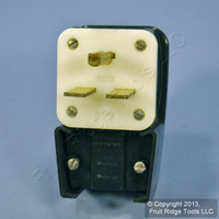 Leviton INDUSTRIAL Straight Blade Right Angle Plug 6-30 30A 250V 9630-P Bulk