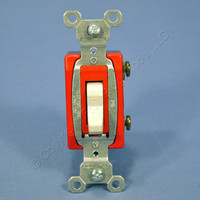Pass & Seymour Light Almond HARD USE Toggle Light Switch 20A CSB20AC1-LA