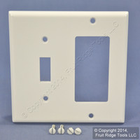 Leviton White Decora GFCI Switch Cover Receptacle Wall Plate Switchplate 80405-W