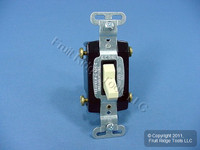 Pass & Seymour Ivory COMMERCIAL 4-WAY Toggle Wall Light Switch 15A Bulk CS415-I