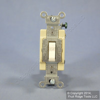 Leviton Light Almond COMMERCIAL 4-Way Toggle Wall Light Switch 20A Bulk CSB4-20T