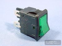 NEW Green Pilot Light Mini Rocker Panel Switch ON/OFF Micro MR001-000