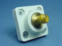 Leviton White ECT 18 Series Cam Plug Male Panel Receptacle Threaded Stud 400A 600V 18R21-W