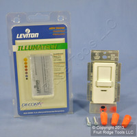 Leviton Ivory Illumatech Slide Dimmer Switch 600W Incandescent Non-Preset INI06-1LI