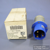 New Leviton International-Rated Splashproof Pin & Sleeve Plug 63A 250VAC SP363P6