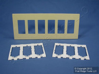Leviton Ivory 6-Gang Midway Size Decora Screwless Wallplate Cover GFCI GFI SJ266-SI