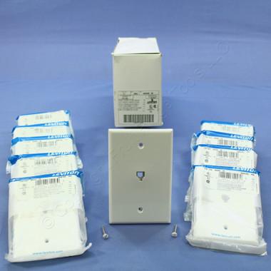 shop leviton white large phone jack telephone wall plate 6. Black Bedroom Furniture Sets. Home Design Ideas