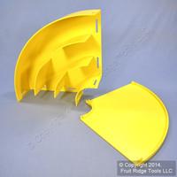 "Leviton Yellow Fiber Patch Panel Raceway Duct Conduit 4""x8"" Horizontal 90° Elbow S8HEL-9DC"