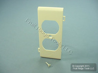 Leviton Light Almond Sectional Receptacle Wallplate Duplex Cover PSC8-T