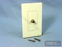Leviton Almond Decora Wallplate Insert F-Type Coaxial Cable Video Jack 80381-A