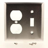 New Pass & Seymour Stainless Steel Receptacle Switch Outlet Wallplate Cover SS18