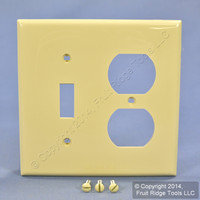 Leviton Ivory UNBREAKABLE Switch/Outlet Wallplate Receptacle Cover Switchplate 80705-I
