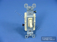 Pass & Seymour Framed Ivory 3-Way ON/OFF Toggle Wall Light Switch 15A 663-IGU