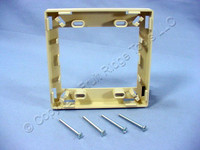 Leviton Ivory MOS Fiber Optic Cord Cable Storage Spacer Manager Ring 41290-DRI