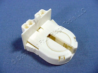Leviton Fluorescent Lamp Holder Light Socket T-8 T8 Medium Bi-Pin G13 Base w/ Panel Locator Post 13652-WP