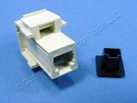 Leviton Ivory Quickport Fiber Optic Frame-Station Jack Adapter MT-RJ 49889-QFI
