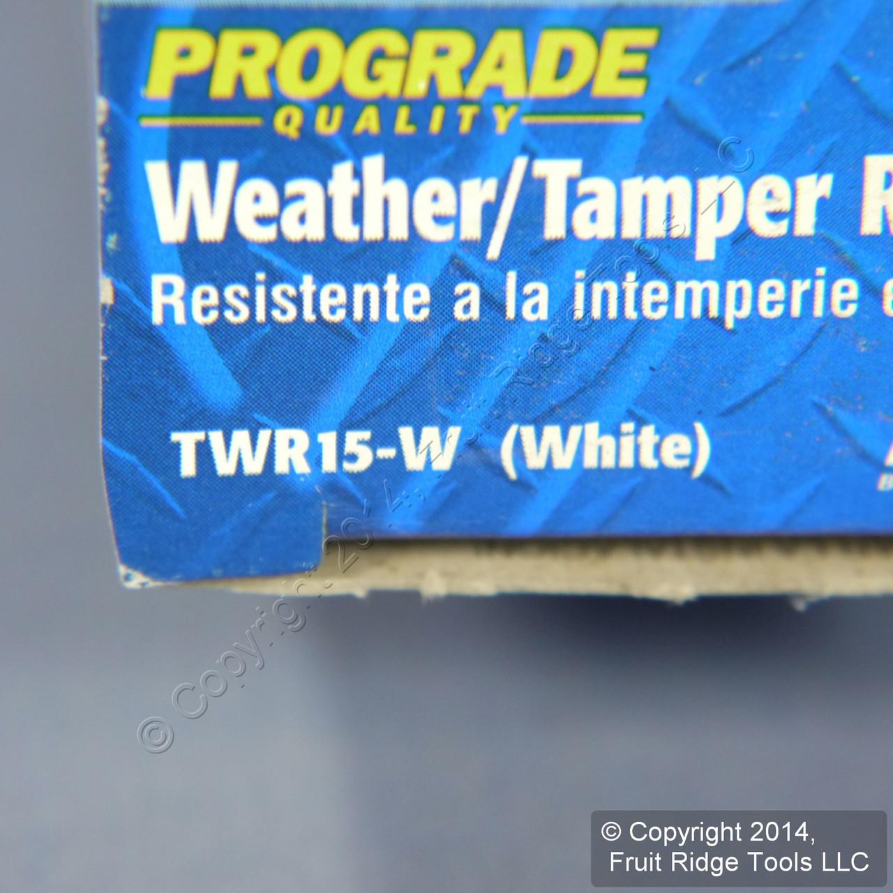 Leviton White Tamper//Weather Resistant Duplex Receptacle Outlet 15A Bulk TWR15-W