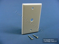 "New Leviton White Phone Cable Wallplate Telephone Plastic Cover .406"" Hole 88013"
