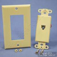Leviton Ivory Decora Phone Jack Wall Plate Telephone C2449-I
