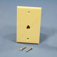 Leviton Ivory 4-Wire Phone Jack Wallplate RJ11 Modular Telephone C0249-I