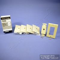 5 Leviton Ivory Decora Phone Jack Wall Plates Telephone C2449-I