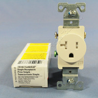 Cooper Light Almond TAMPER RESISTANT COMMERCIAL Single Outlet Receptacle NEMA 5-20R 20A 125V TR1877LABXSP
