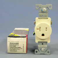 Cooper Almond TAMPER RESISTANT COMMERCIAL Single Outlet Receptacle NEMA 5-20R 20A 125V TR1877A-BXSP