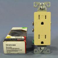 Cooper Ivory TAMPER RESISTANT Duplex Receptacle Outlet NEMA 5-15R 15A TR1107V