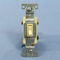 Cooper Ivory INDUSTRIAL Grade 3-Way Framed Quiet Toggle Wall Light Switch 15A Bulk 1223-1V
