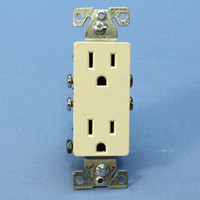 Cooper Light Almond Decorator Outlet Duplex Receptacle NEMA 5-15R 15A Bulk 1107-9LA
