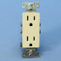 Cooper Light Almond Decorator Outlet Duplex Receptacle NEMA 5-15R 15A Bulk 1107-9LA