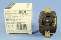 Leviton California Style Locking Receptacle Twist Lock CS Outlet 50A 125V CS63-70