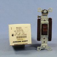 Cooper Arrow Hart Brown INDUSTRIAL AC Toggle Wall Light Quiet Switch 20A AH1221B Old Style