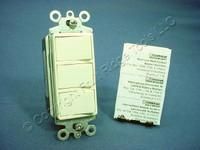 New Leviton Almond Decora Single Pole Triple Rocker Wall Light Switch 15A 1755-A