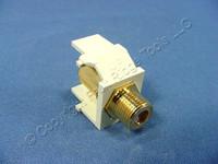 Leviton Almond Quickport Gold Coaxial Cable Connector Jack Coax 40831-BA