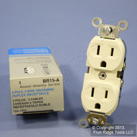 Leviton Almond COMMERCIAL Duplex Receptacle Outlet 15A 125V BR15-A Boxed